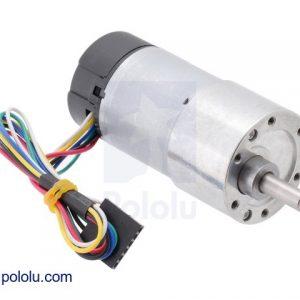 100:1 Motorreductor Metálico 37D X 73L Con Encoder de 64 CPR (Helicoidal)