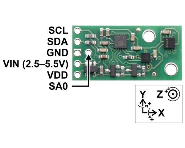 Giroscopio, Acelerometro, Compas y Altímetro AltIMU-10 v5