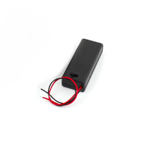 HR0585 2xAA battery holder with cover and switch