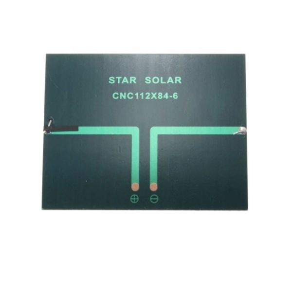 HR0214-73 112X84mm 6V 1.1W 200mA Solar Power Panel Poly Cell 1