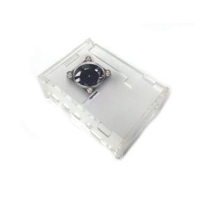 Case Protector Para Raspberry Pi 4 Con Ventilador Y Disipadores – Traslúcido