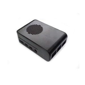 Case de Plástico ABS para Raspberry Pi 4 – Negro