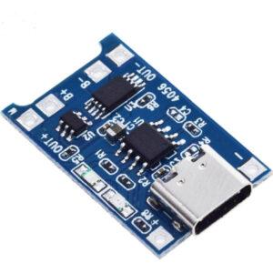 """Módulo de Carga con Circuito de Protección – TP4056 (USB Tipo """"C"""")"""