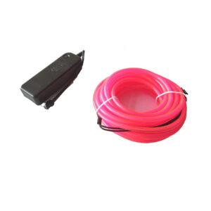 Cable Electroluminiscente 5 Metros – 5mm (Rosa)