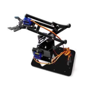 Kit de Brazo Robot de Acrílico 4DOF – SNAM1200 (Negro)